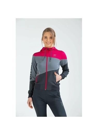 Umbro Tift Sportswear Vc-0006 Fuşya-Siyah Kadın Sweat Fuşya